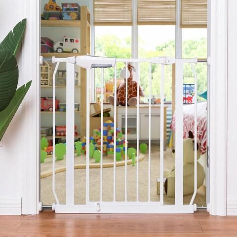 Gymax Baby Safety Gate Door Walk Through Toddler Child Pet Metal Easy Locking System - as pic
