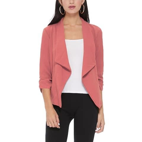 Women's Casual Open Front Solid Blazer Jacket