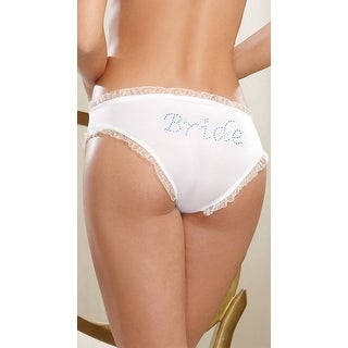 Here Comes The Bride Hipster Panty, Bridal Panty - White