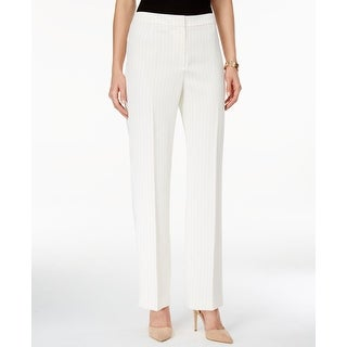 Kasper NEW White Ivory Pinstriped Career Women's Size 6 Dress Pants