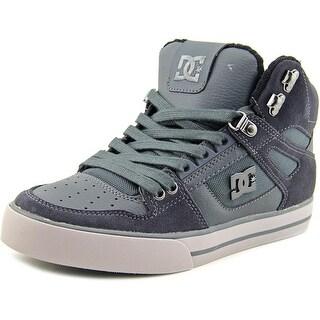 DC Shoes Spartan High WC SE Men Round Toe Suede Gray Skate Shoe