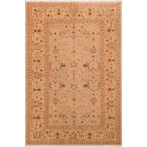 """Shabby Chic Ziegler Rivka Hand Knotted Area Rug -5'10"""" x 8'9"""" - 5 ft. 10 in. X 8 ft. 9 in."""