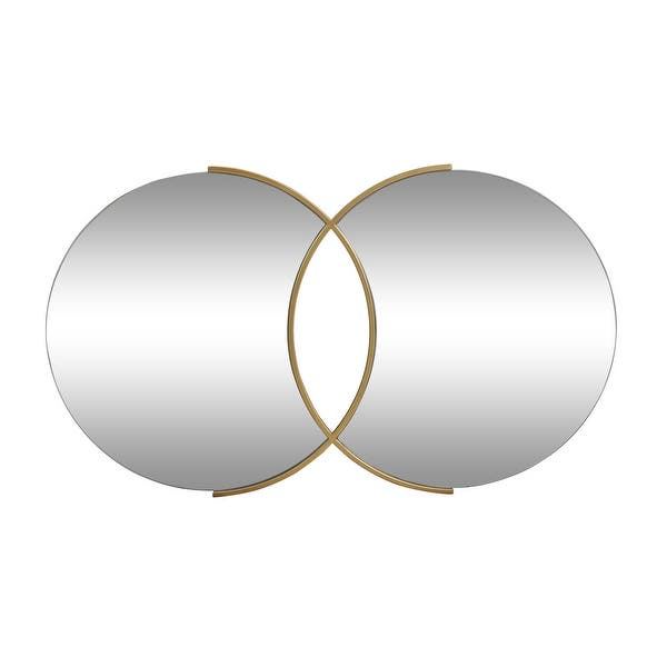 Hughey Modern Glam Overlapping Round Wall Mirror By Christopher Knight Home 23 00 H X 39 50 W X 0 78 D Overstock 32053869