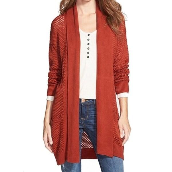 BP. NEW Orange Women's Size Large L Open-Front Cardigan Sweater ...