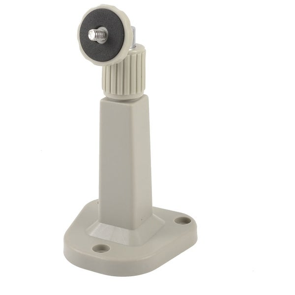Unique Bargains Adjustable Angle Wall Mount CCTV CCD Security Camera Bracket Stand Light Gray