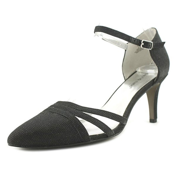 David Tate Avi Women N/S Pointed Toe Canvas Black Heels