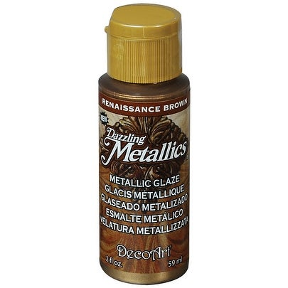 Dazzling Metallic Glaze Acrylic Paint 2oz-Renaissance Brown
