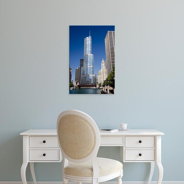 Easy Art Prints Cindy Miller Hopkins's 'Chicago's Mag Mile' Premium Canvas Art