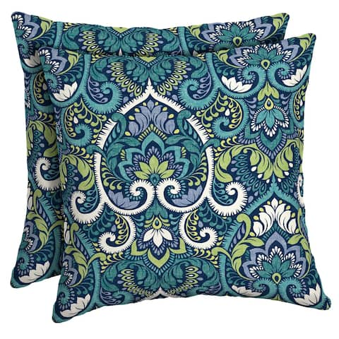 Arden Selections Sapphire Aurora Damask Throw Pillow, 2 Pack - 16 in L x 16 in W x 5 in H