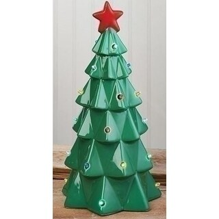 13 LED Lighted Battery Operated Christmas Tree with Bright Red Star