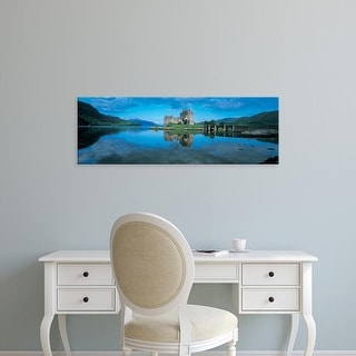 Easy Art Prints Panoramic Images's 'Castle in water, Eilean Donan Castle, Loch Duich, Highlands, Scotland' Canvas Art