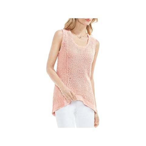 Vince Camuto Womens Tank Top Sweater Textured Sleeveless - S