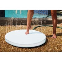 "28"" White Portable Round Summer Outdoor Patio and Poolside Shower - N/A"