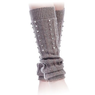 Mad Style Pearls on Knit Leg Warmers