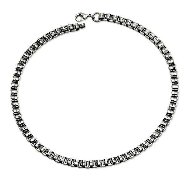 Chisel Stainless Steel Circular Links Necklace (8 mm) - 24 in