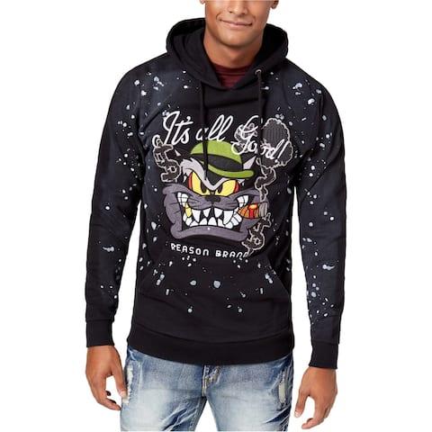 Reason Mens It's All Good Hoodie Sweatshirt, Black, X-Large