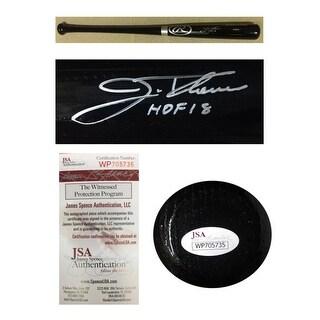 Jim Thome Autographed Cleveland Indians Hall of Fame HOF 2018 Signed Baseball Bat JSA COA