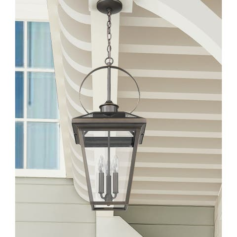 Large Outdoor Bronze Pendant with Circle
