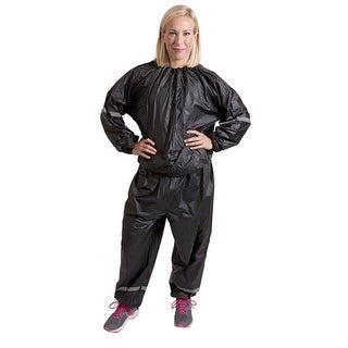 GoFit Thermal Training Sweat Suit Sauna Suit - Black