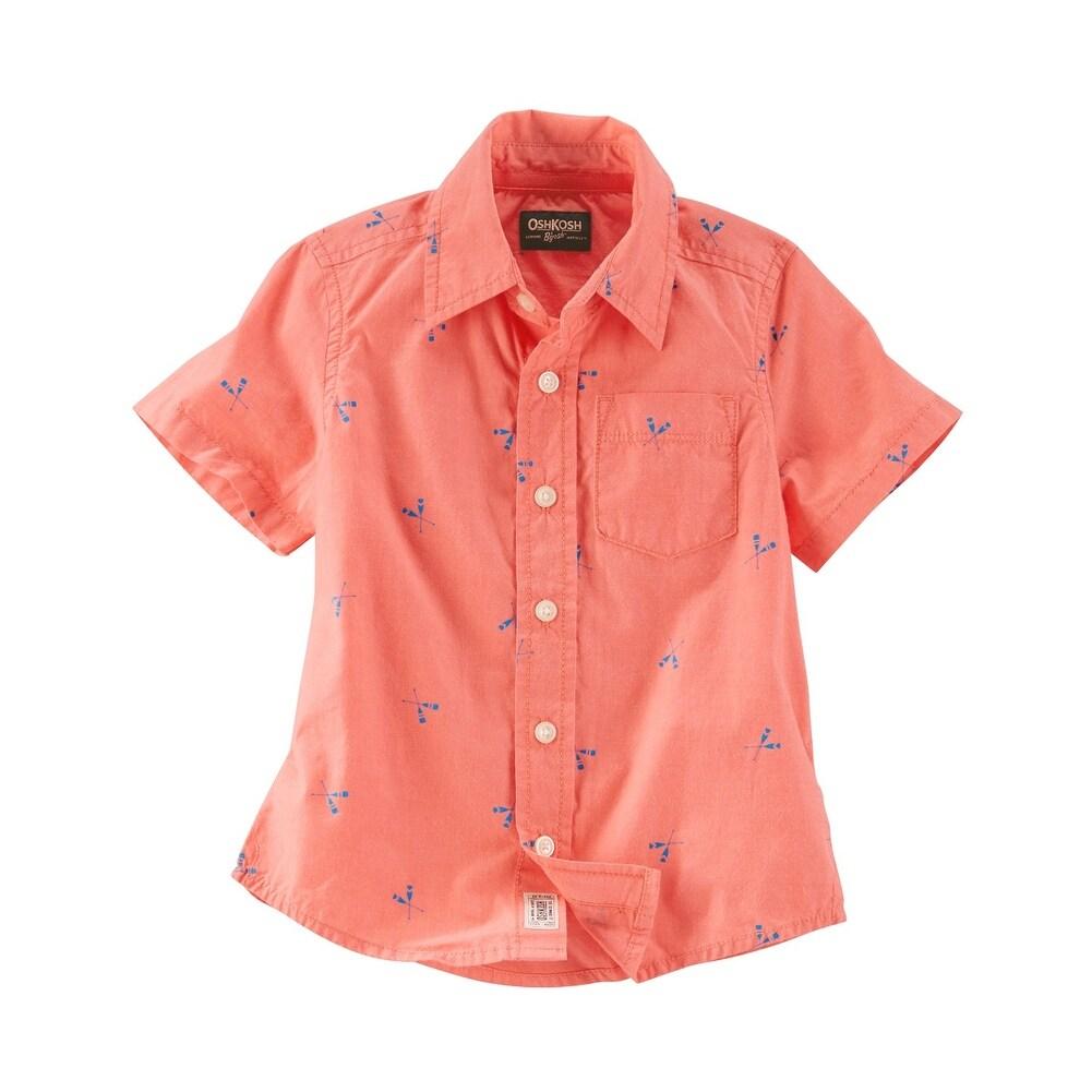 10 Kids White OshKosh BGosh Big Boys Poplin Button-Front Shirt