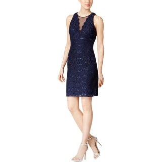 Nightway Womens Cocktail Dress Sleeveless Sequined