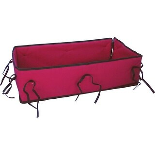 Cusioned Pad for Classic Red Convertible Wooden Wagon and Sleigh