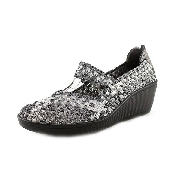 Baretraps Ursala Women Round Toe Synthetic Silver Mary Janes