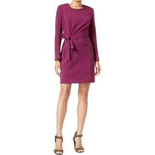 Rachel Rachel Roy Womens Cocktail Dress Side Tie Long Sleeves (2 options available)