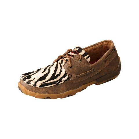 Twisted X Casual Shoes Womens Leather Lace Boat Brown