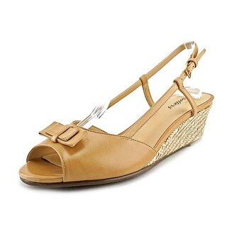 Trotters Milly Open Toe Leather Wedge Sandal