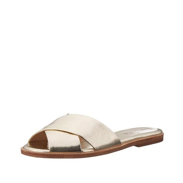 Splendid Baron Slide Sandal Shoes Gold - 6.5 b(m)