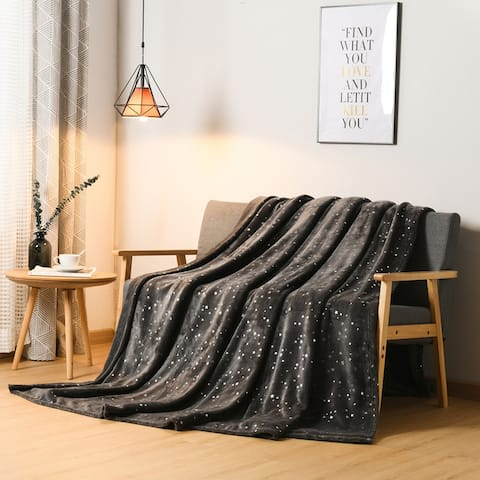 Glitzhome Ultra Soft Thick Microplush Bed Blanket Sofa Couch Throw