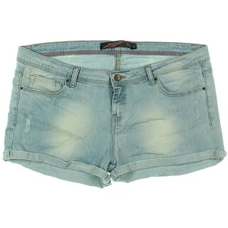 Zara TRF Womens Distressed Flat Front Denim Shorts - 12