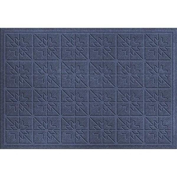 843610023 Water Guard Star Quilt Mat in Navy - 2 ft. x 3 ft.