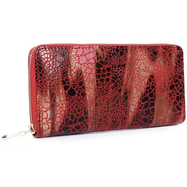 Mad Style Marsala Haven Zipper Wallet - Dark Red