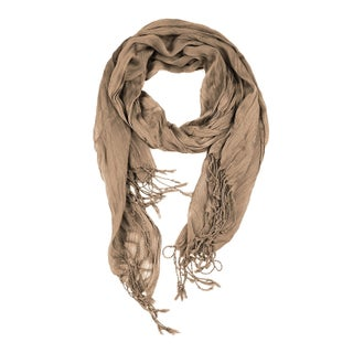 Women's All Seasons Solid Plain Lightweight Soft Wrinkled Scarf
