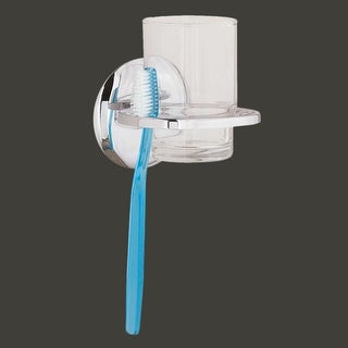 Wall Mount Classic Toothbrush & Cup Holder Chrome Brass