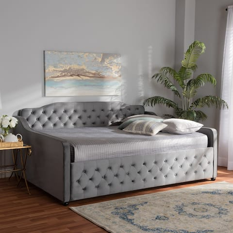 Silver Orchid Raag Transitional Contemporary Daybed
