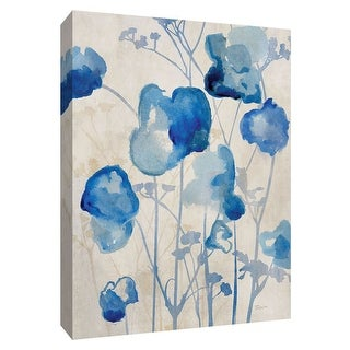 """PTM Images 9-148502  PTM Canvas Collection 10"""" x 8"""" - """"Blue Day Dawning I"""" Giclee Flowers Art Print on Canvas"""