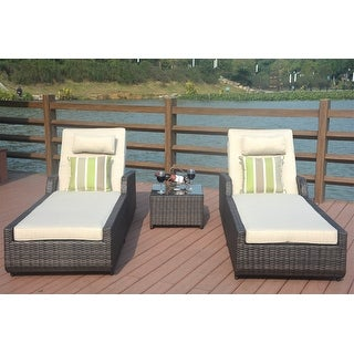 Link to Jamaica 3-Pieces Outdoor Aluminum Adjustable Wicker Chaise Lounge Set by Direct Wicker Similar Items in Outdoor Sofas, Chairs & Sectionals