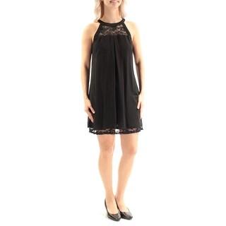 BCX $59 Womens New 2015 Black Lace Sleeveless Baby Doll Dress S Juniors B+B