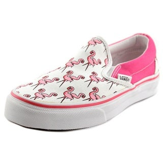 Vans Classic Slip-On Women Round Toe Canvas Pink Skate Shoe