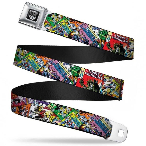 Transformers Autobot Logo Full Color Black Silver Gradient Transformers Seatbelt Belt