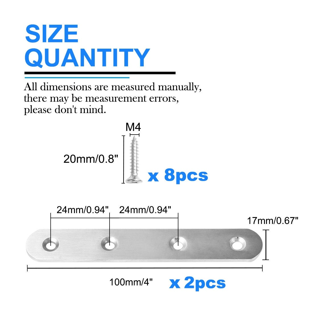 24 piece Corner Bracket plastic brown 24mm x 24mm x 17mm Braces