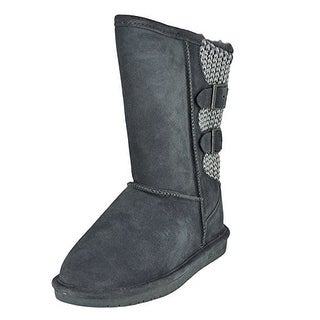 BEARPAW Women's Boshie Winter Boot, Charcoal, 10 M US
