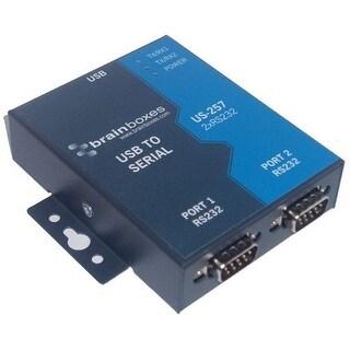 Brainboxes US-257 Brainboxes US-257 2-port Serial Hub - USB