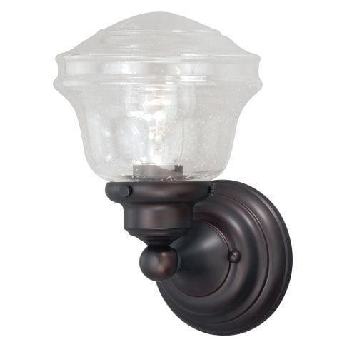 Vaxcel Lighting W0188 Huntley Single Light Wall Sconce with Seedy Glass Shade