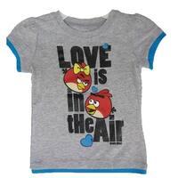 Disney Little Girls Grey Royal Blue Angry Birds Character Print T-Shirt 4-6X