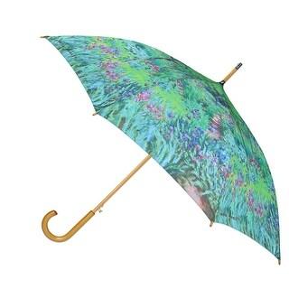 CTM® Women's Auto Open Monet Print Stick Umbrella - One size