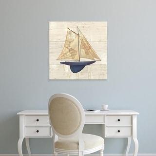 Easy Art Prints James Wiens's 'Nautique I' Premium Canvas Art